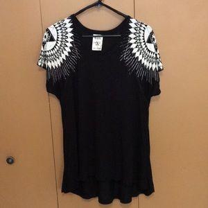 Vocal.  Bling Shirt  Size M -asymmetrical